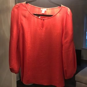 Stunning Jcrew coral blouse NWT